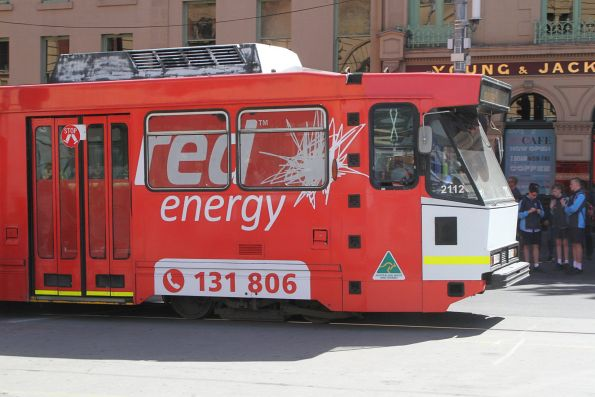 B2.2112 advertising 'Red Energy' still has a white front following collision repairs
