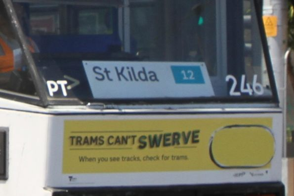 'St Kilda 12' sign in the window of A1.246