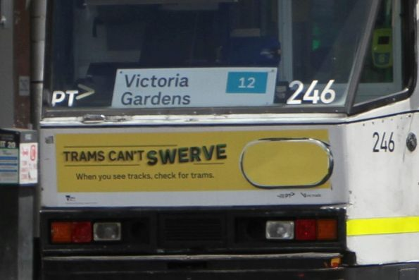 'Victoria Gardens 12' sign in the window of A1.246