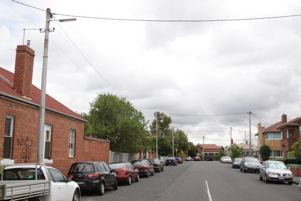 Former electric tram route along Pilkington Street, Fitzroy North