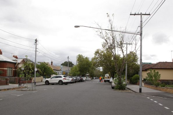 Former electric tram route along Barkly Street, Fitzroy North