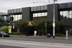 The nondescript office building that houses the Yarra Trams Eastern Road Operations Centre
