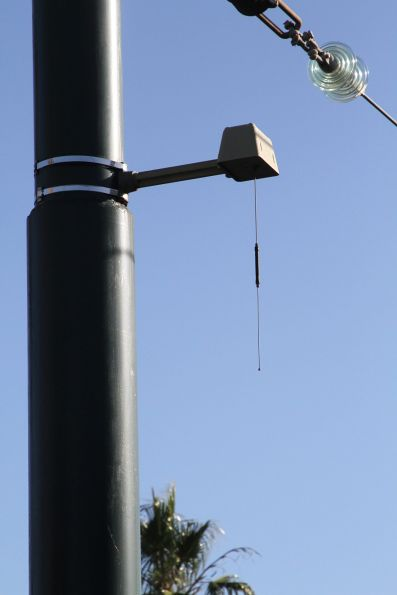 AVM antenna at the route 109 terminus in Port Melbourne