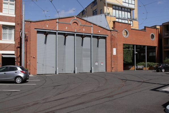 Outside the former Hawthorn Depot, the remaining shed is now the Melbourne Tram Museum