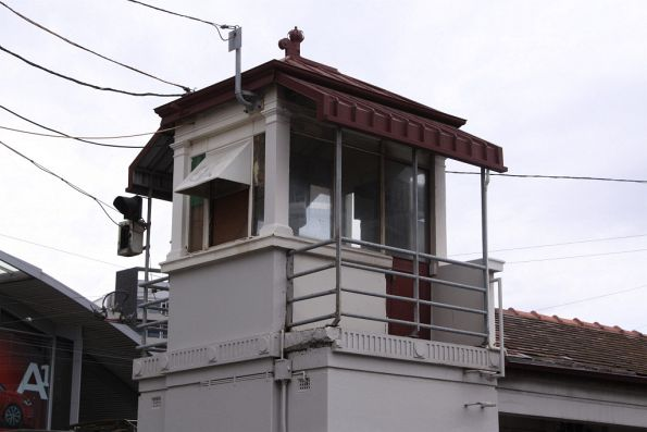 Disused signal box at the Franklin Street siding