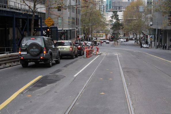 Removed tram stop 3 on route 55, corner of Flinders Lane and William Street