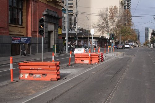 Removed tram stop 121 at Bourke & Spencer Streets, for routes 75 and 86