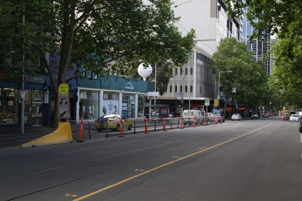 Tram stop 6 at Franklin and Elizabeth Streets closed for good