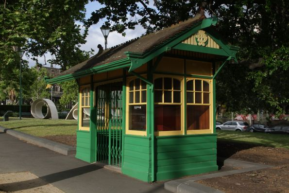 Heritage listed MMTB tram shelter on Macarthur Street