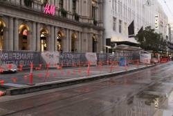 Platform stop works almost complete at the west end of the Bourke Street Mall