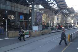 Resurfacing works commence at the Southern Cross Station platform stop on Spencer Street