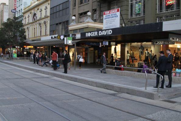 Completed platform stop resurfacing works at the west end of the Bourke Street Mall