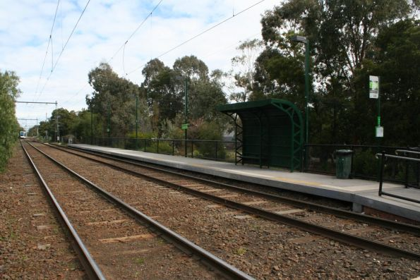 Montague tram stop citybound, on the route 109 to Port Melbourne