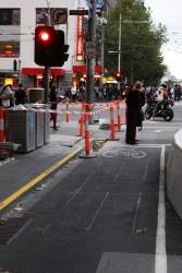Inductive loop for bicycles at Swanston Street and La Trobe