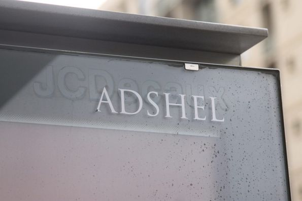 Adshel maintained tram shelter, previously maintained by JCDecaux