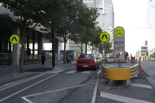 Pedestrian crossings finally installed to the Collins Hill tram stop outside Southern Cross Station