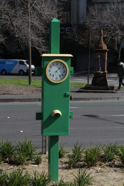 'Bundy Clock' restored and relocated at Domain Interchange