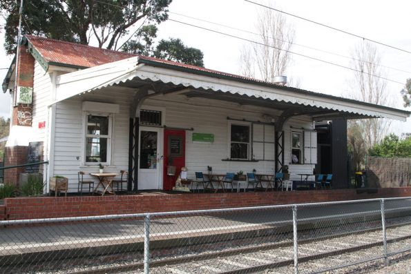 Former station building at Middle Park now leased out as a cafe