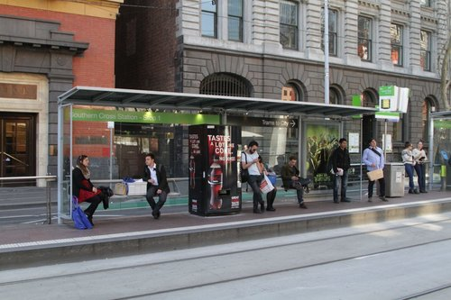 Coke vending machine installed at the Bourke and Spencer Street tram stop