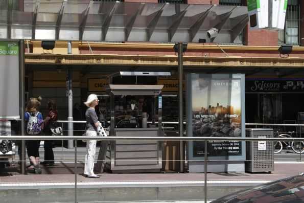 Coffee stall taking up precious platform stop space at Flinders and Swanston Street
