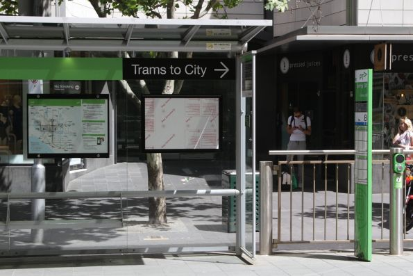 New poster cases installed at a CBD tram stop