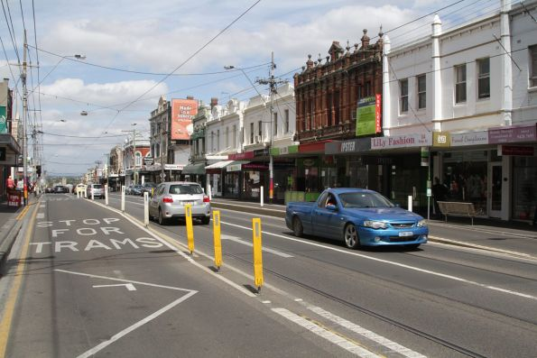 One of two 'drive over' trams stops on Bridge Road, Richmond