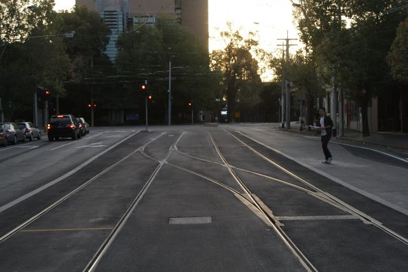 New crossover on Elgin Street, to the west of the new platform stop