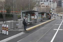 Passengers will always take the shortest path to a tram stop, even if you only build an entrance at one end