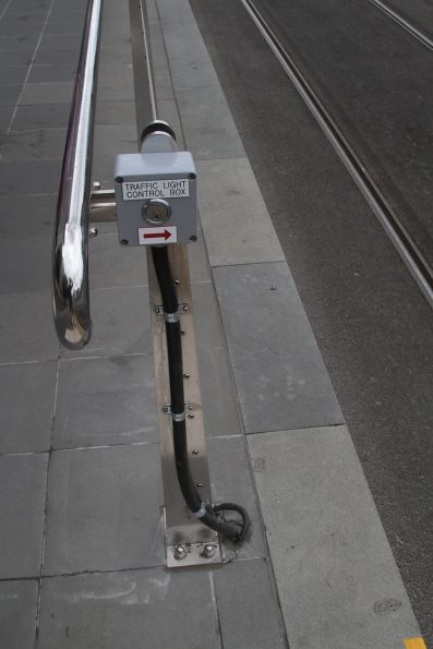 Keyswitch for the 'T' light at the Flinders and Russell Street tram stop