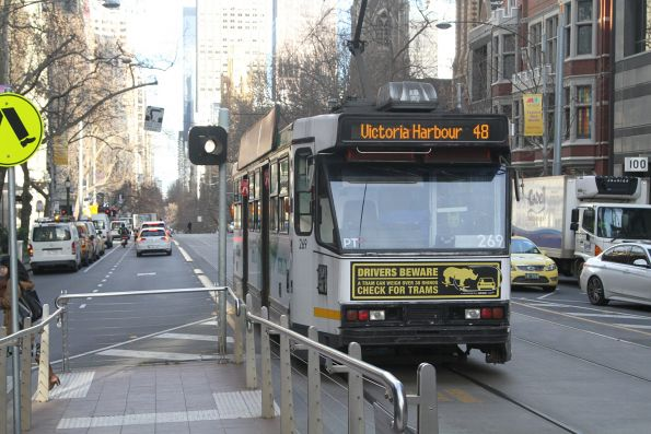 'T' light indicates A2.269 will get a clear run through the Collins and Russell Street intersection