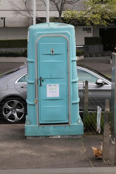 Portable toilet for female tram drivers at Domain Interchange