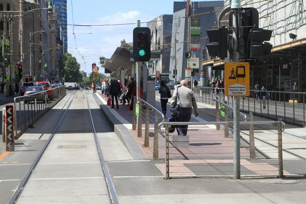 'Offside' stop at Flinders and Swanston Street