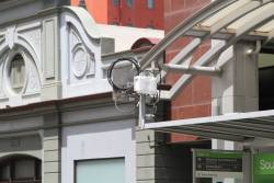 Trial CCTV-powered passenger counting system still in place at the Bourke and Spencer Street tram stop