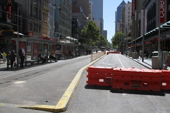 Pop up park at Elizabeth Street and Flinders Street has already disappeared