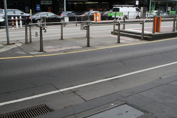 Only steps to access the east end of the Flinders and Elizabeth Street tram stop