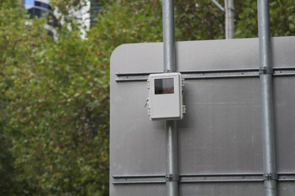 Remote camera monitoring the additional pedestrian crossing to the Bourke and Spencer Street tram stop