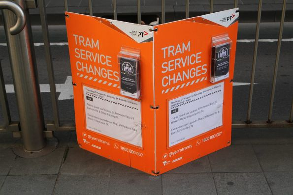 Tram service changes notice for route 48 due to White Night