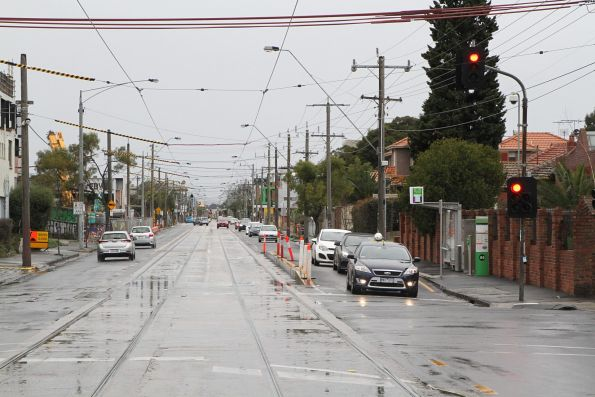 New southbound platform tram stop on route 96 at Nicholson Street and Miller Road, Fitzroy North