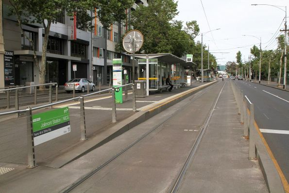 MCG / Jolimont station tram stop on Wellington Parade