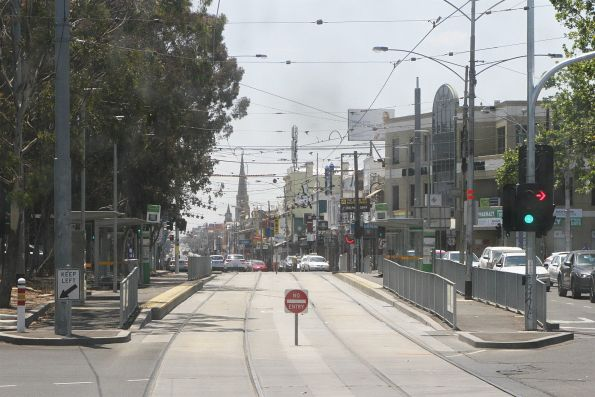 Platform tram stop at Sydney and Brunswick Road