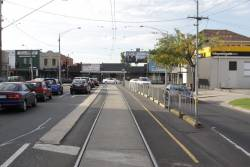 Terminus of the route 55 at West Coburg, looking towards Bell Street