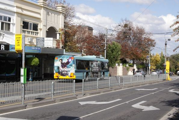 Route 16 terminus on Glenferrie Road in Kew
