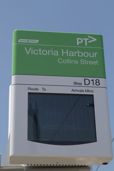 New Victoria Harbour terminus at the corner of Collins and Bourke Streets is stop D18