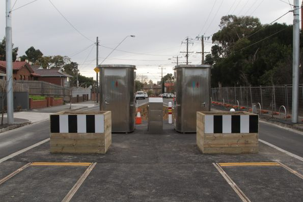 Yet to be commissioned stabling sidings beyond the new route 96 terminus at East Brunswick