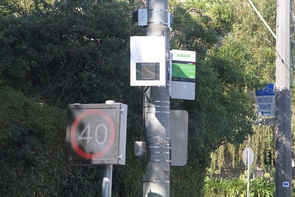 TramTracker screen just short of the route 8 terminus in Toorak