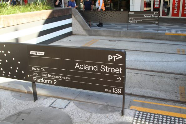 Route 96 terminus in Acland Street, St Kilda