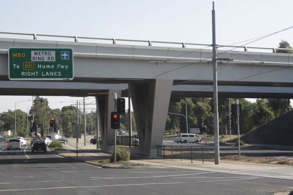 Route 86 really heads out of Melbourne - it even passes beneath the Metropolitan Ring Road!