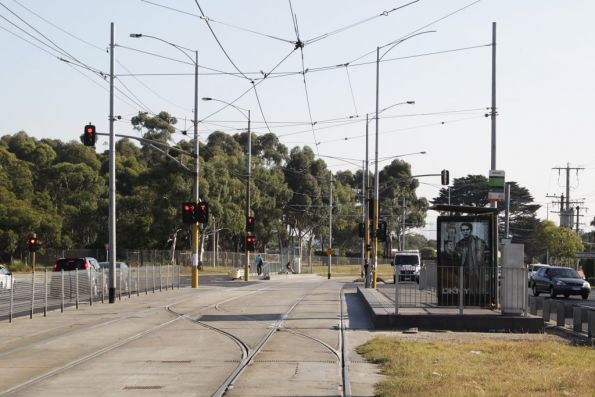 Crossover on route 86 outside La Trobe University on Plenty Road, Bundoora