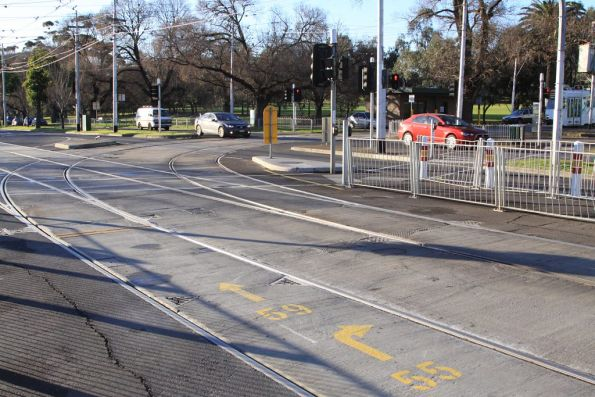 Junction of routes 59 and 55 at Abbotsford Street, North Melbourne