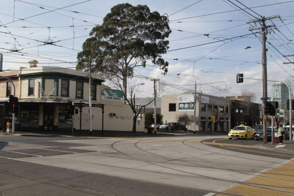 South to east curves at Clarendon and Park Street in South Melbourne